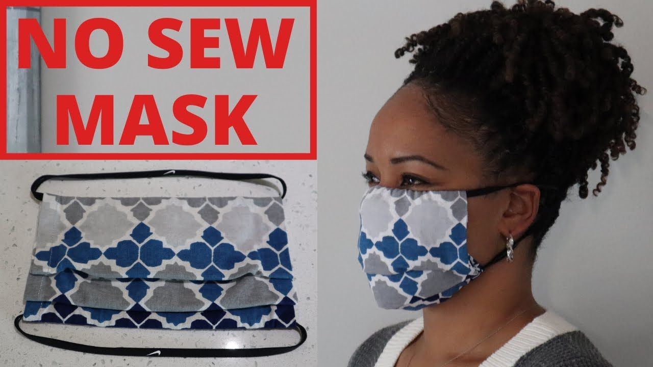 Photo of DIY NO SEW FACE MASK with FILTER POCKET   NO SEWING MACHINE   NO NEEDLE AND THREAD