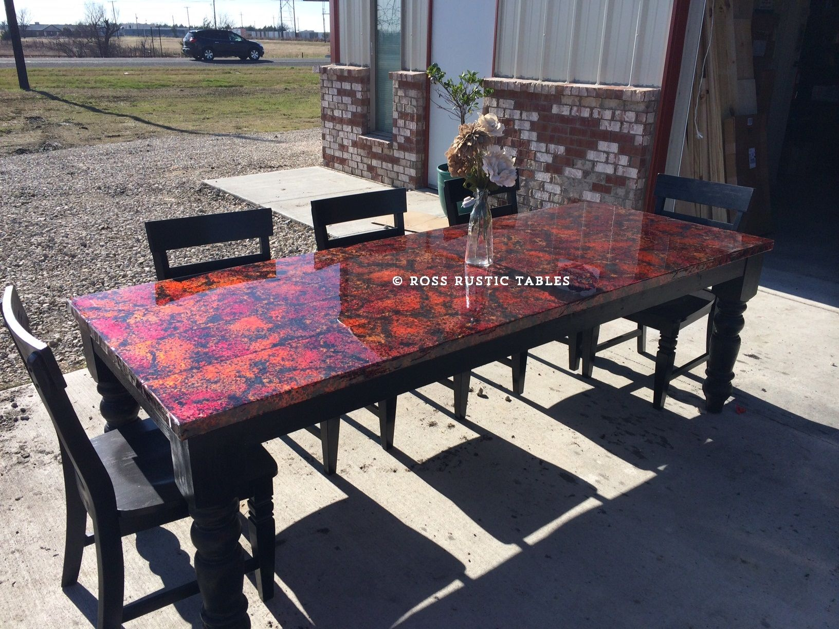 Red Copper Table From Ross Rustic Tables Solid Sheet Of Copper On Top With  A Coating Of Epoxy To Protect The Piece. Check Out All The Copper Choices  And ...