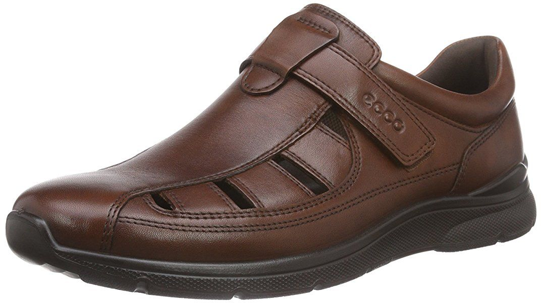 d7aa3877a6a26 Amazon.com | ECCO Men's Irving Fisherman Sandal, Cognac, 40 EU/6-6.5 ...