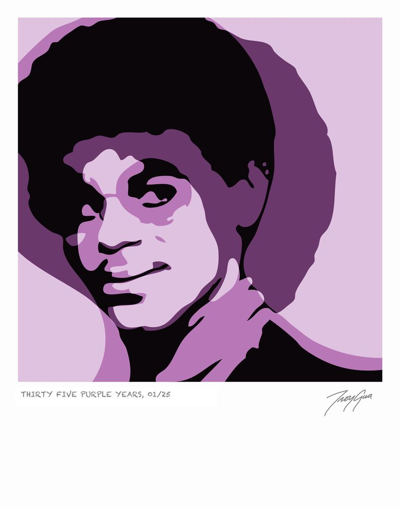 THIRTY FIVE PURPLE YEARS LIMITED EDITION GICLEE PRINT by TROY GUA