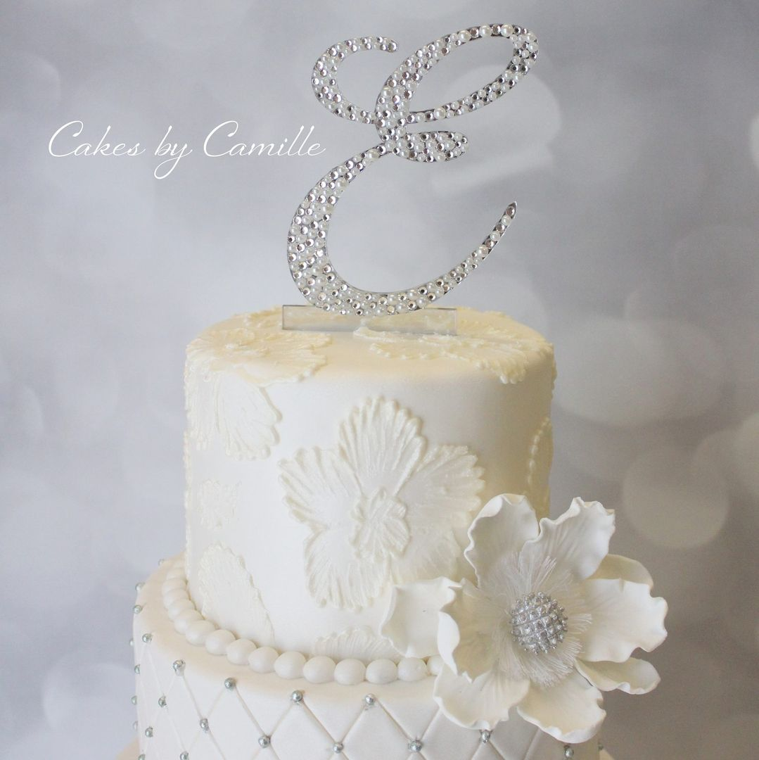 Bling Wedding Cake Topper, Crystal Wedding Cake Topper