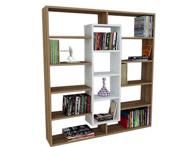 AMPLE Bookcase Walnut White