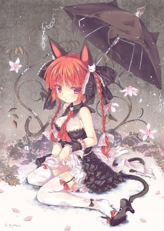 かわいい二次元の女の子のエロ画像 vol 93 45 anime neko anime cat girl
