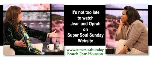 Jean Houston, one of the original founders of the Human Potential Movement -- not to be missed. Listen to one of her videos, and prepare to fall in love.