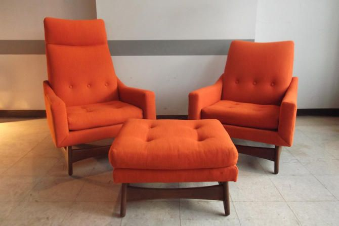 Terrific Pair Of Mid Century Lounge Chairs And Ottoman In 2019 Gmtry Best Dining Table And Chair Ideas Images Gmtryco