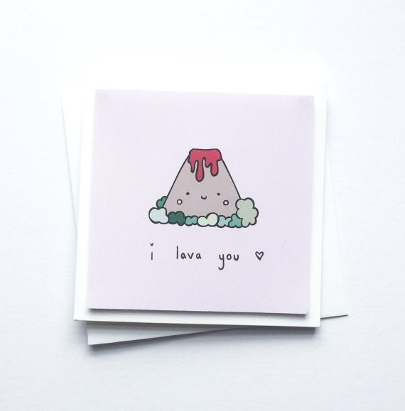 I Lava You Cute Greetings Card