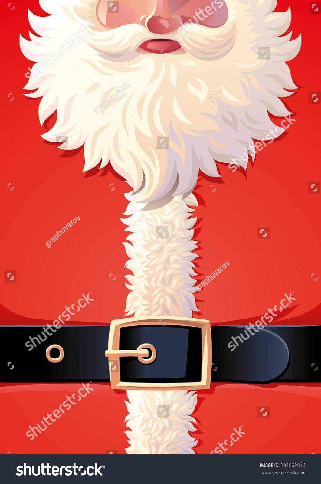 Background of Santa Claus coat Vector illustration, Free