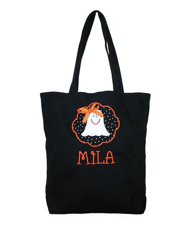 Love this Ghost Personalized Tote Bag by Designs by Two Greek Sisters on #zulily! #zulilyfinds