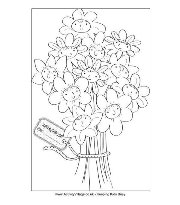 6 dibujos para colorear, ¡regalo del Día de la Madre | Día de la ...