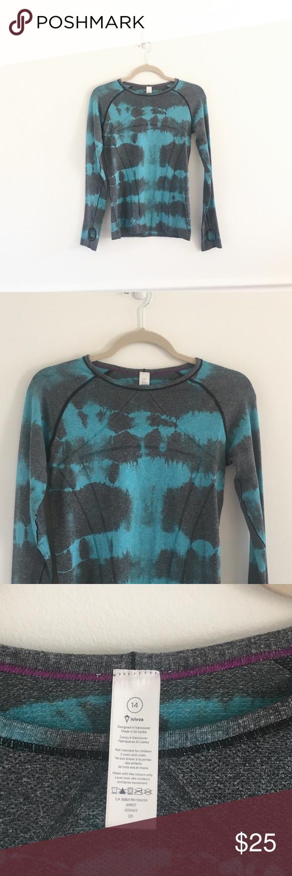 Girls Ivivva Lululemon Fly Tech Tie Dye Shirt Tie Dye Shirt Ivivva Shirts For Girls [ 1740 x 580 Pixel ]