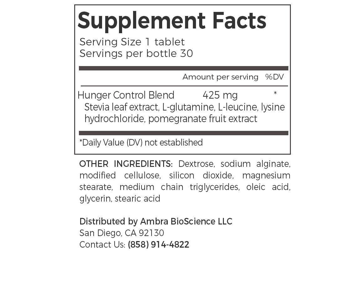 Hunger Control Formula Tablets By Lovidia Curb Appetite Improve