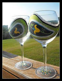 Acrylic pint wine glasses