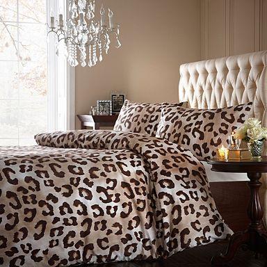 Brown \'Sahara\' animal print bedding set - Duvet covers ...