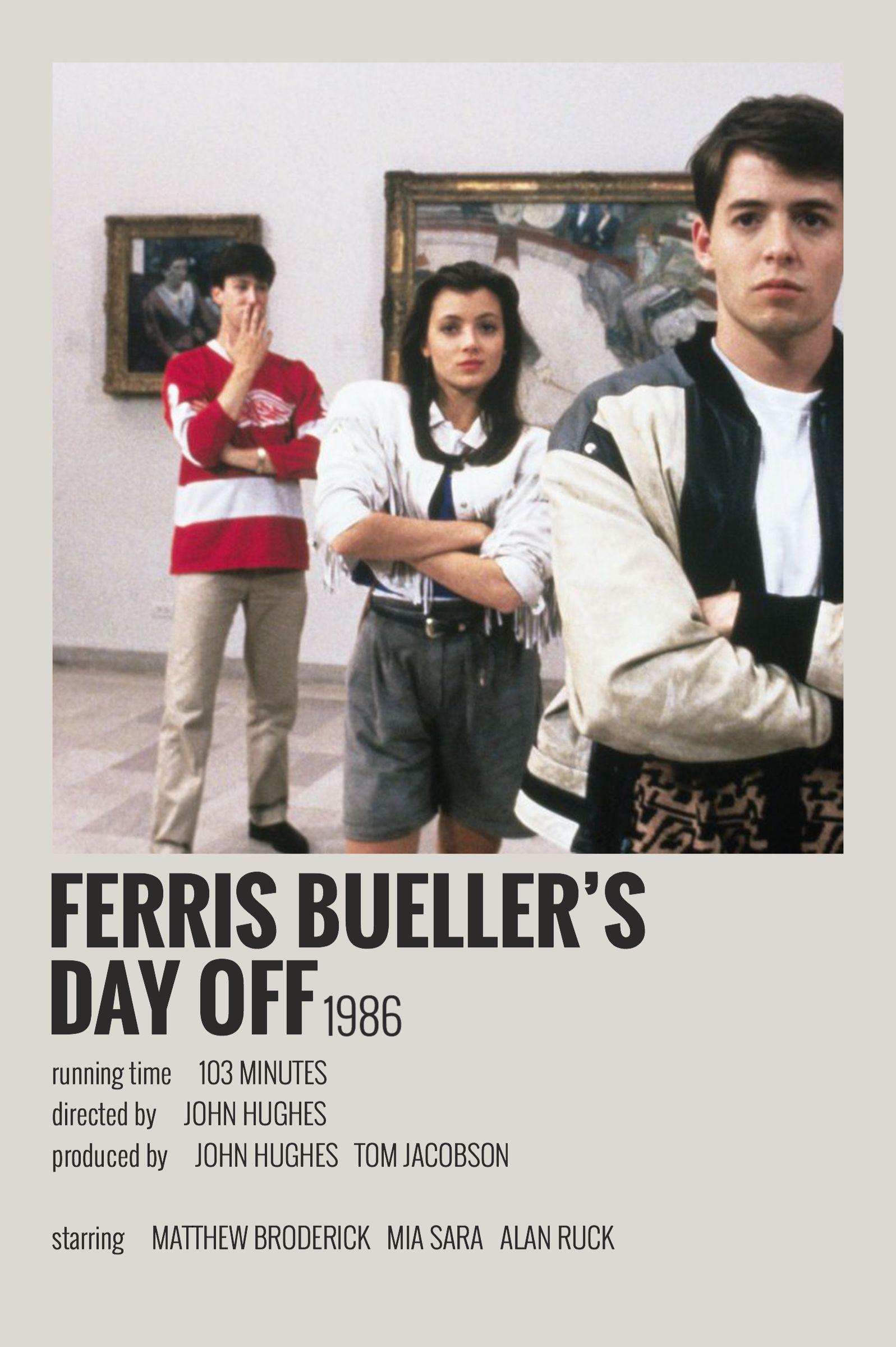 Alternative Minimalist Movie/Show Polaroid Poster - Ferris Buellers Day Off