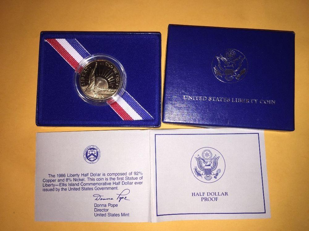 Ellis island liberty coin