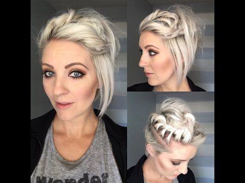Dutch Braid With A Twist On Short Hair Youtube Short Hair Styles Short Hair Styles Easy Hair Styles
