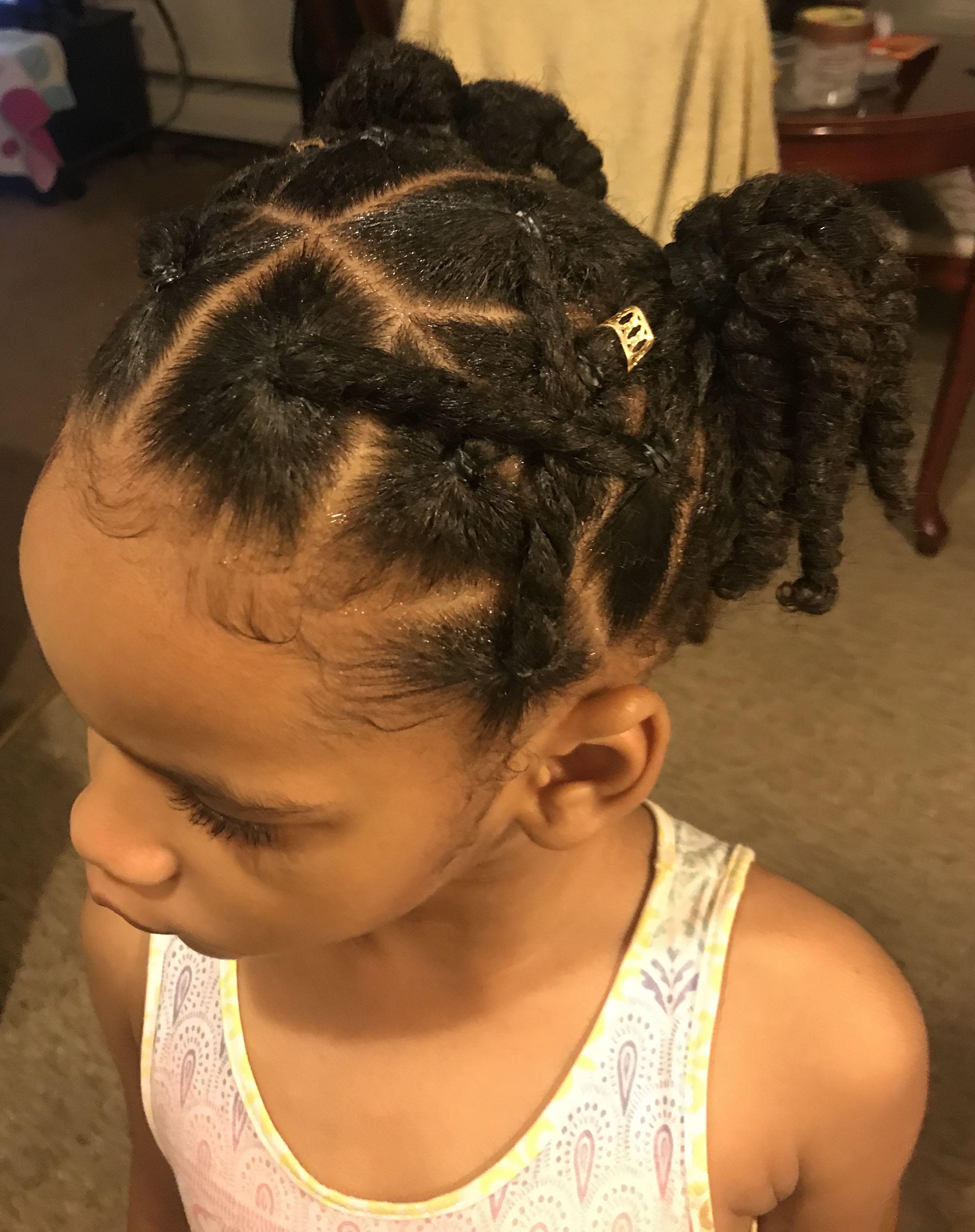 Twist Ponytail Updo Natural Hair Bun Styles Natural Hairstyles For Kids Kids Hairstyles