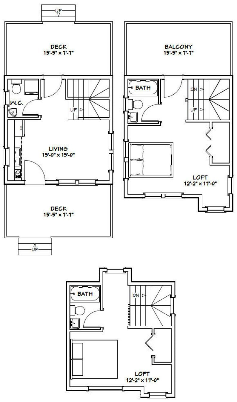 16x16 House 2Bedroom 2.5Bath 697 sq ft PDF
