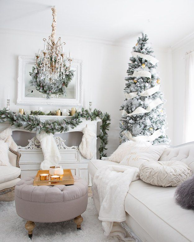 Winter Wonderland 11 Christmas Living Room Ideas For Fuss Free Holiday De Christmas Decorations Living Room Cozy Christmas Living Room Christmas Living Rooms