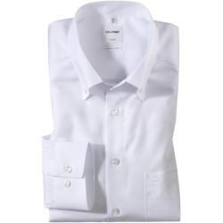 Photo of Olymp Luxor Hemd, comfort fit, Button-down, Weiß, 41 Olymp