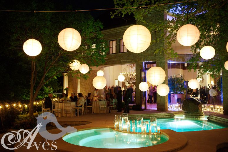 Paper Lanterns Mix Of Sizes Colors And Heights