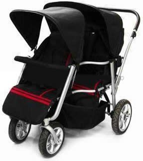 Triple Trio Tandem Baby Jogger Stroller with Rain Canopy - Free ...