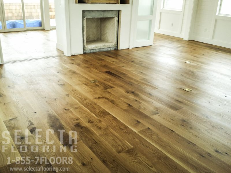 Selecta Flooring Llc Went Seaside For This Install And Finishing Job This 8 White Oak Is Stained With Rubio Monoc Flooring Floor Installation Hardwood Floors