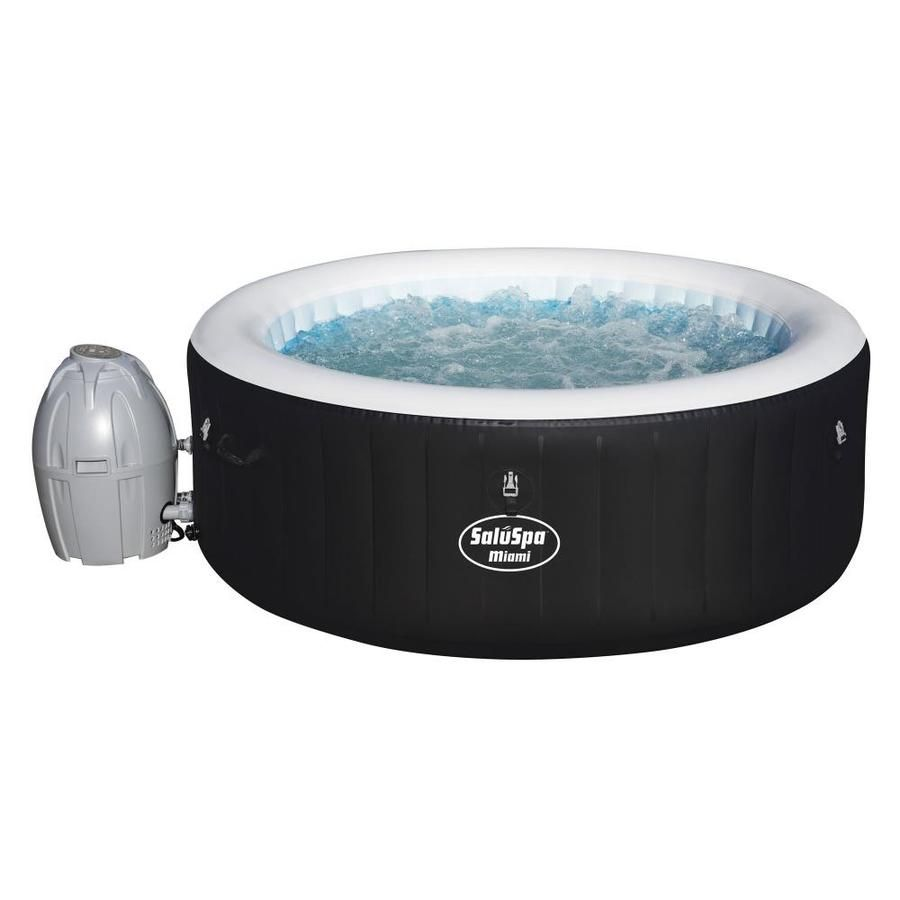 Bestway 4 Person 120 Jet Round Hot Tub 51907 In 2020 Portable