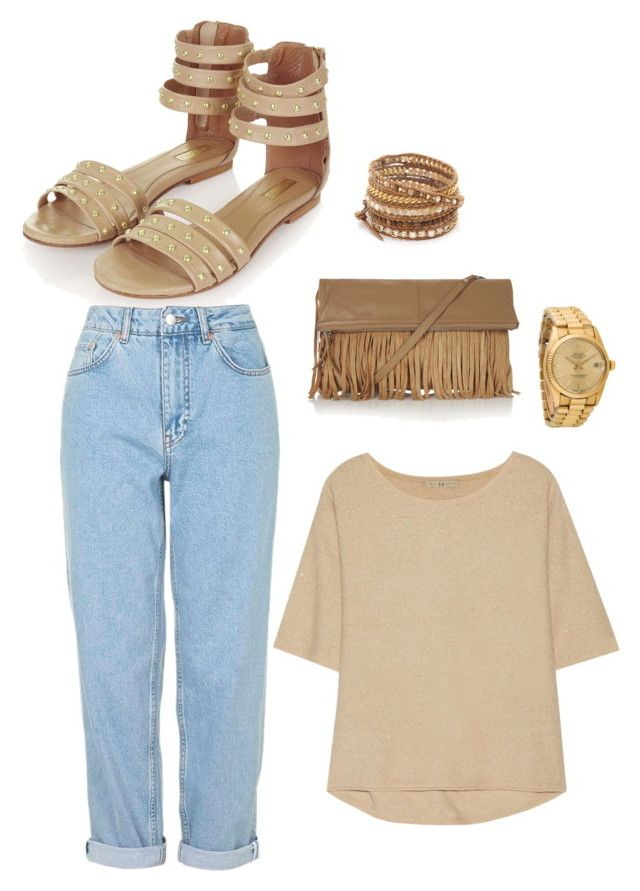 """Untitled #76"" by victoriaam99 ❤ liked on Polyvore featuring Topshop, Halston Heritage, Chan Luu and Rolex"