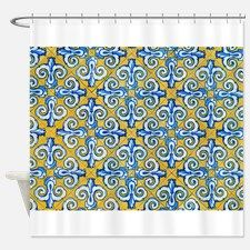 Spanish Tiles Shower Curtain For