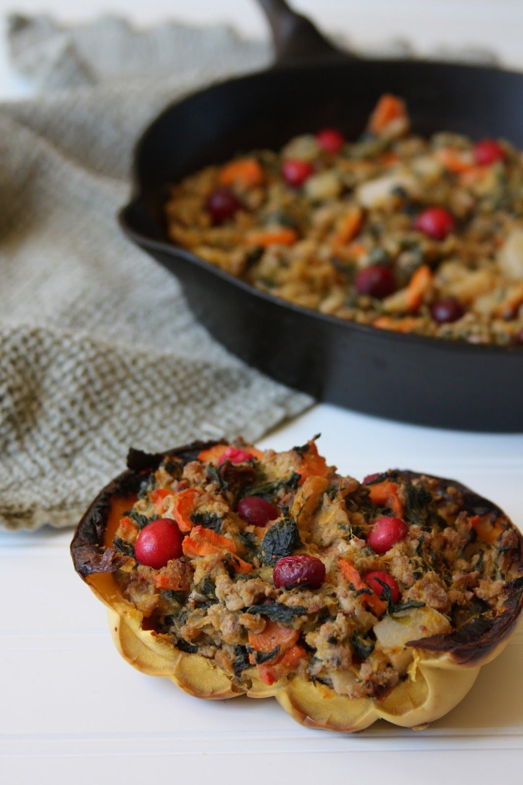 Harvest Ground Turkey Stuffed Acorn Squash Aip Paleo Whole 30