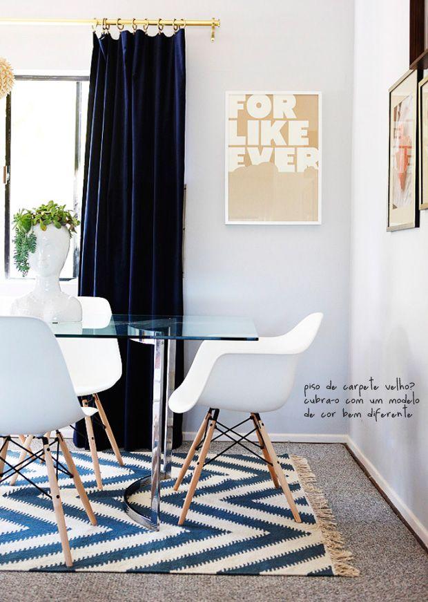 Rug Over Carpet! Itu0027s Possible #decor Blue Velvet Curtains, Blue Curtains Living  Room