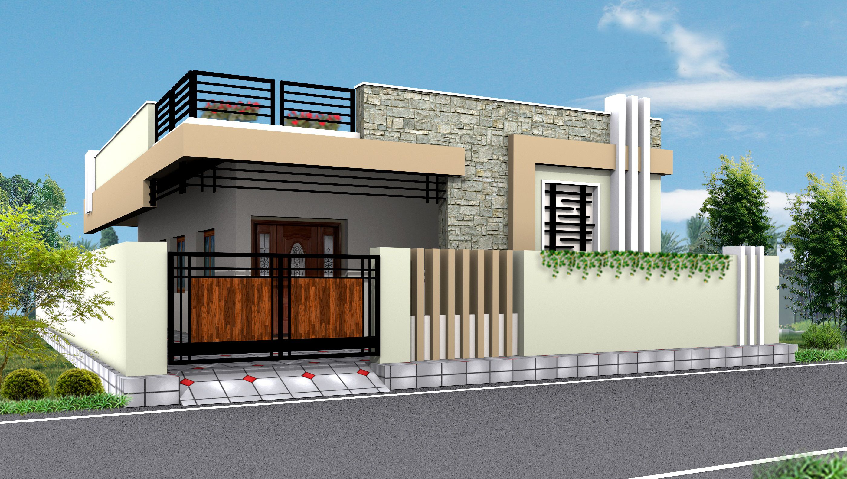 Asian House Front Elevation : Pin by gopi krishna on elevations independent house