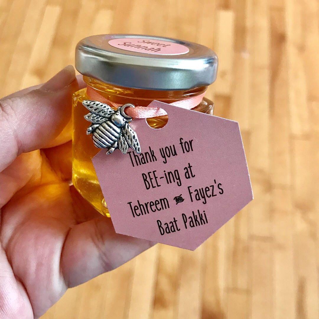 Honey Jar Wedding Favors Honey Jar Favour Muslim Wedding Favor Desi Wedding Honey Favors Bee Honey Jar Wedding Favors Honey Jar Favors Wedding Favour Jars