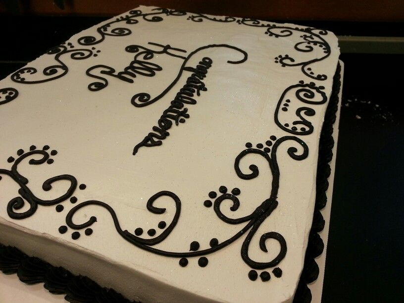 Remarkable Black And White Sheet Cake By Tiffany At Belton Price Chopper Funny Birthday Cards Online Elaedamsfinfo