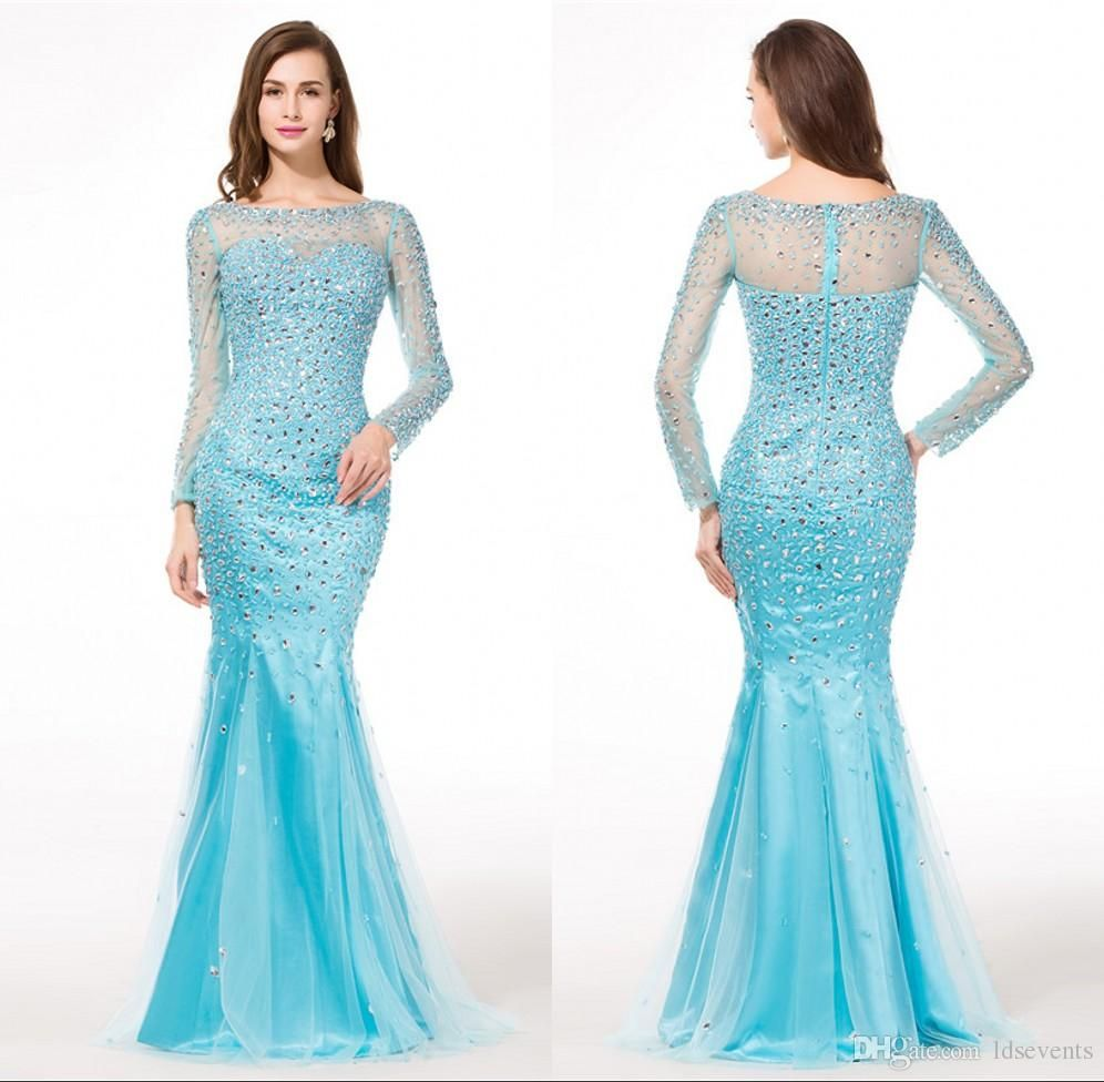 light blue prom dresses with sleeves - Google Search | Gorgeous Prom ...