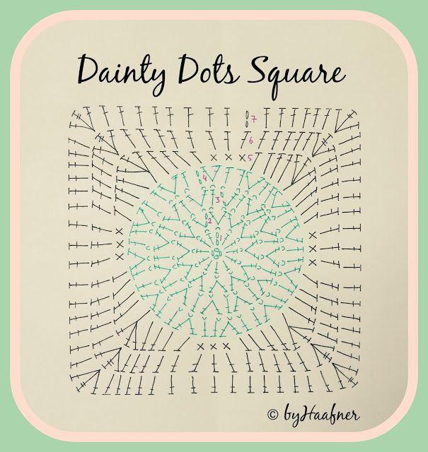 byHaafner, crochet, pattern, blanket, Dainty Dots | haken ...