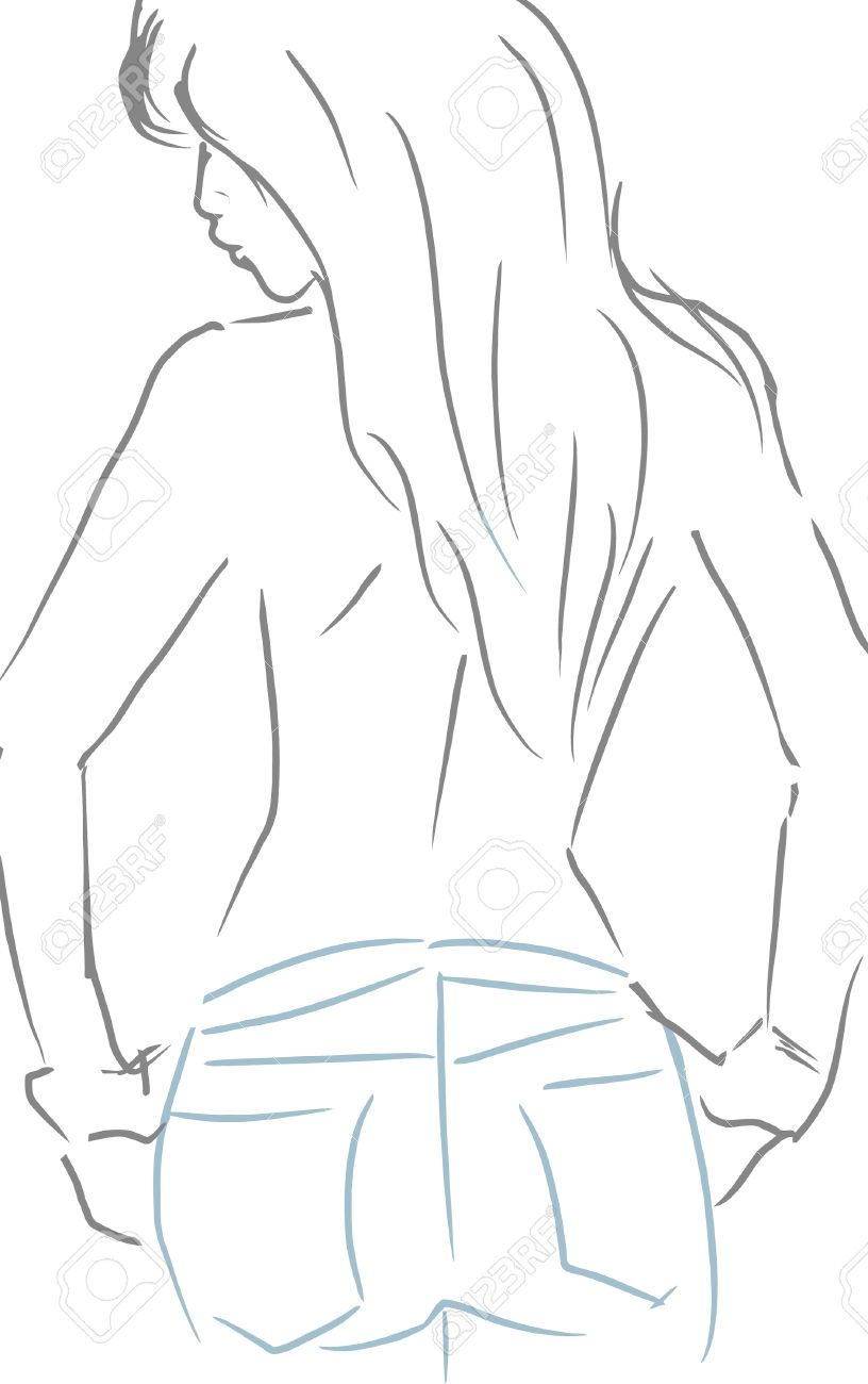 woman from behind sketch - Google Search | drawing people ...