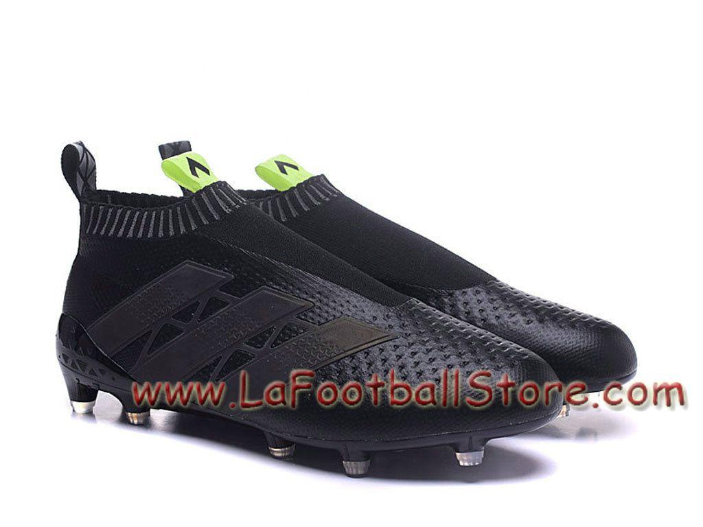 wholesale dealer abc01 b70d7 Adidas Homme Football Chaussure ACE 16+ Purecontrol Primeknit Terrain  souple Noir Adidas Prix