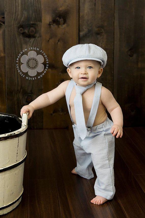 Baby boy baby newsboy cake smash baby boy photo prop newsboy outfit baby ring bearer newsboy set Four Tiny Cousins Newsboy Set