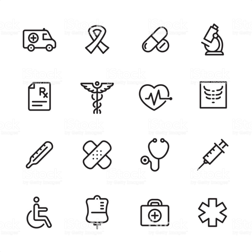 16 line black and white icons / Set en 2020 Moldes de