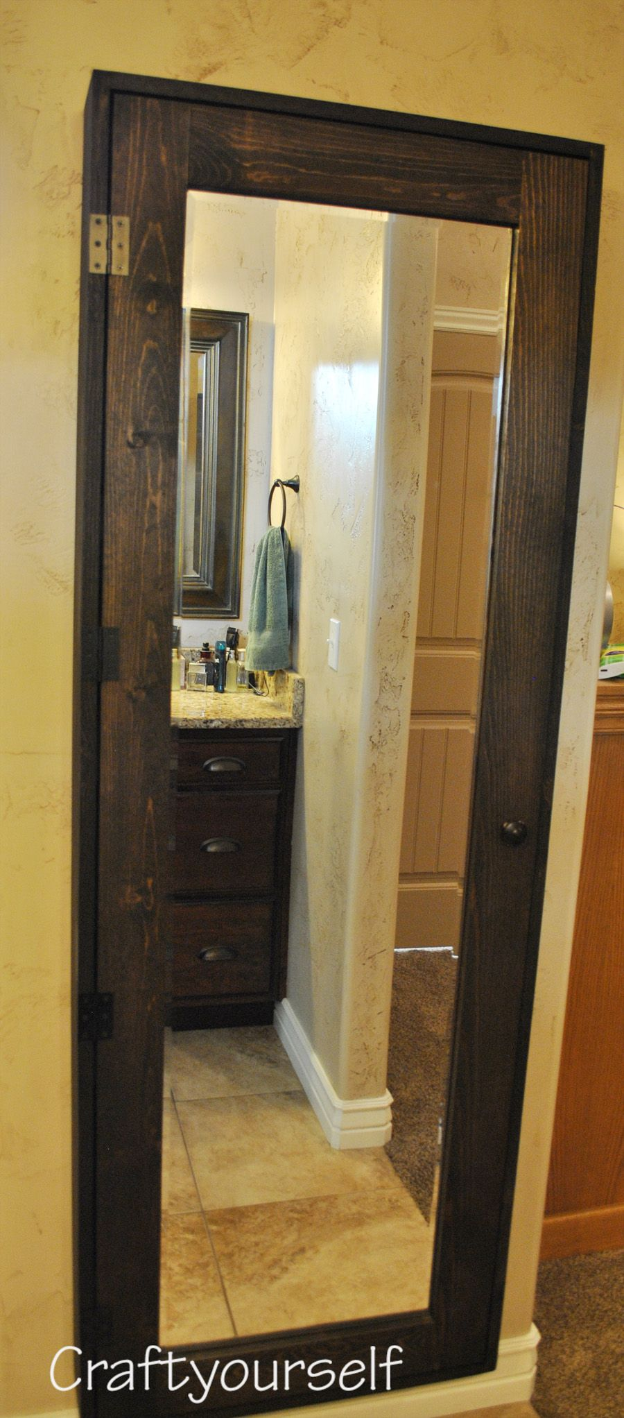 DIY Bathroom Cabinet with Mirror | Bathroom mirrors diy ...