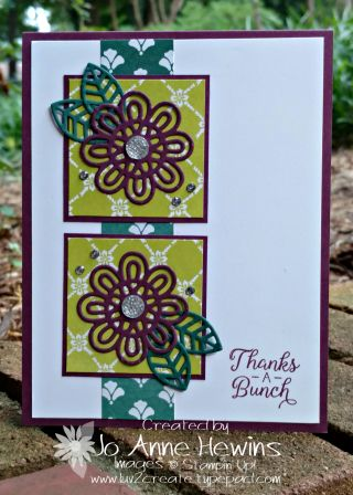 Love The Flower From The Support Ribbon Framelits Ribbon Cards
