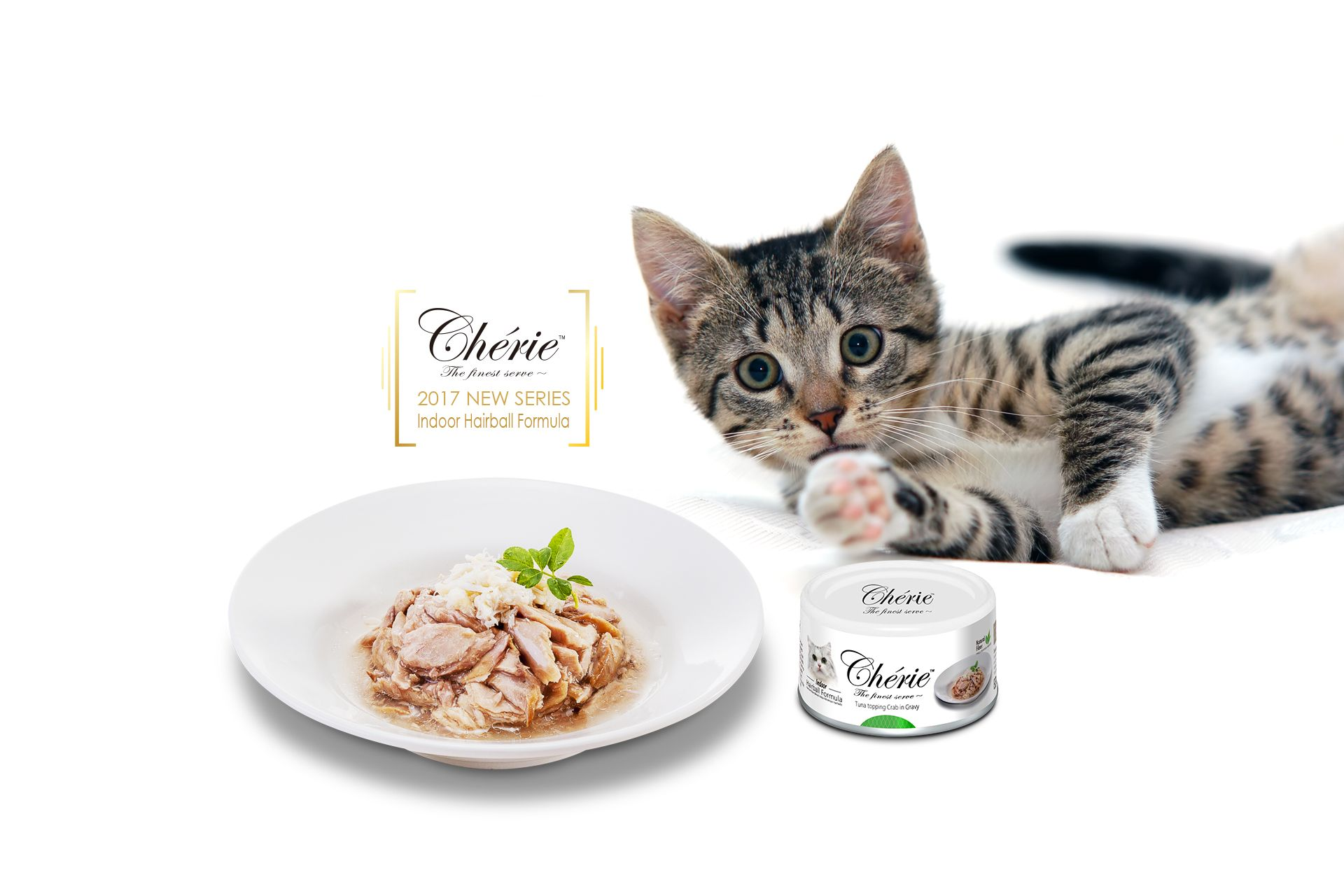Pettric Cherie Hairball Control Series Cat Wet Food Cute