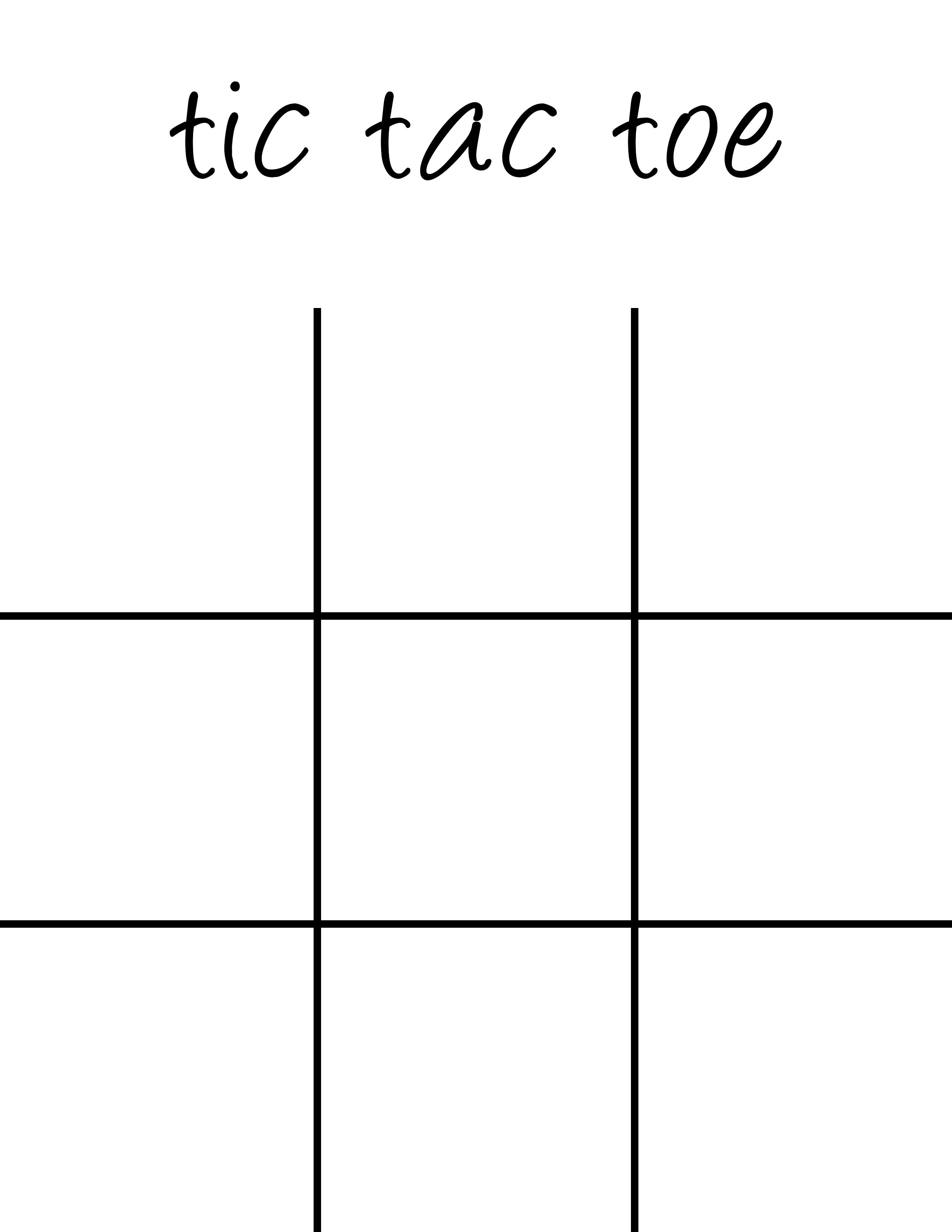 Free Printable Tic Tac Toe Board That Are Critical