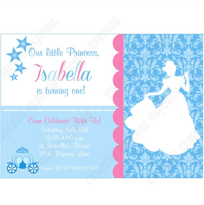 cinderella inspired printable invitation #3 diy birthday party, Party invitations