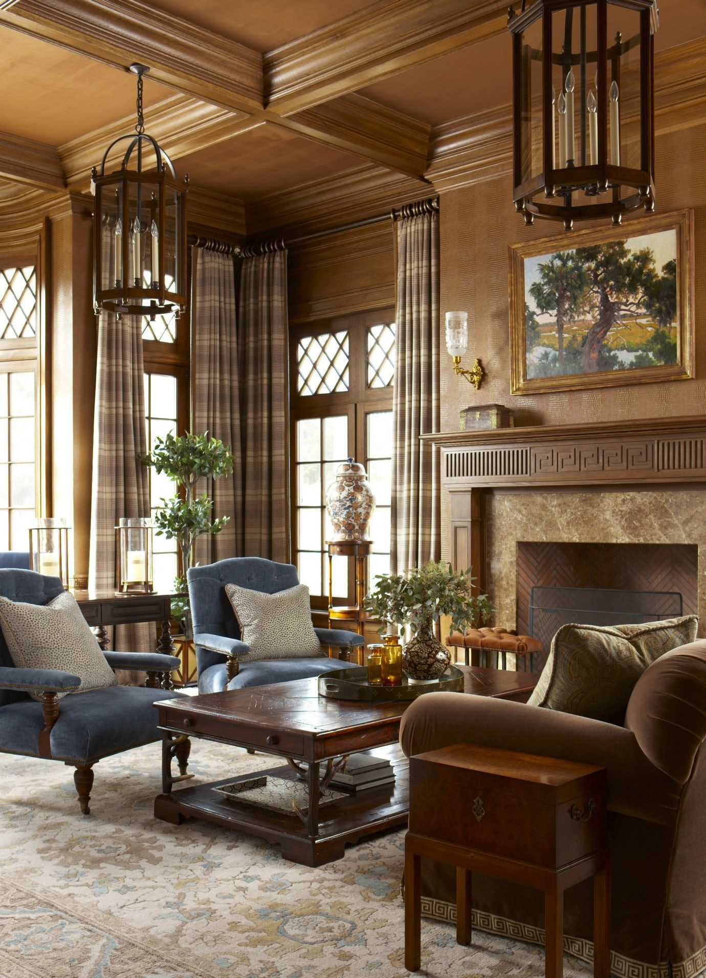 Living Room Library Design Ideas: Study Library Living Home Office Contemporary Transitional
