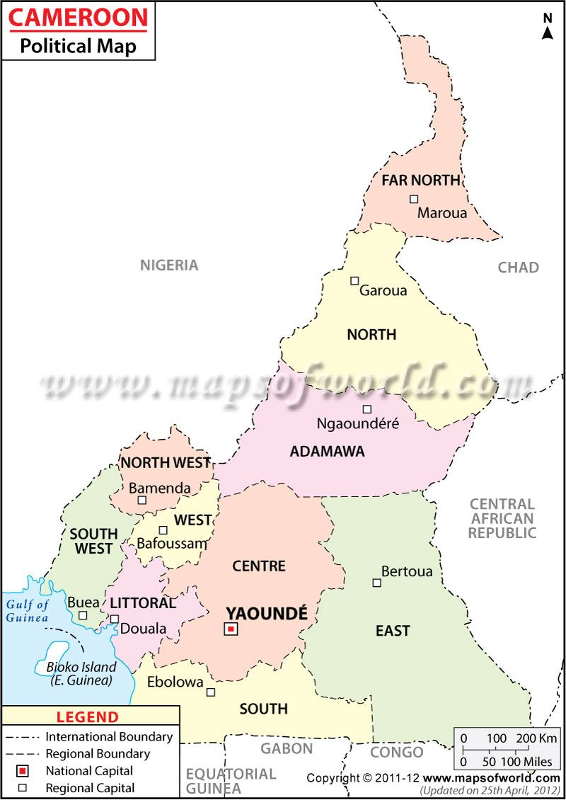 Political map of cameroon mapas pinterest explore africa style geo and more political map of cameroon gumiabroncs Images