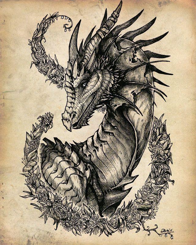 Картинка дракон эскиз