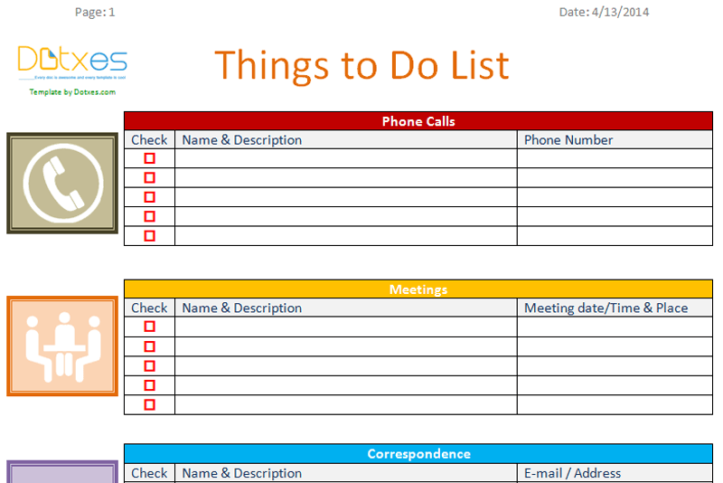 To Do List Business Version  Charts  Checklists